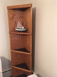 One of two oak corner cabinets, and one of several ships in the sale!