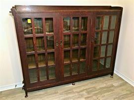 L & JG Stickley Rare 3-Door Bookcase, Marked