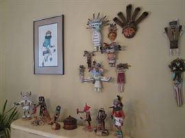 "A ""MUST SEE"" Assortment of Southwest & Native American Figurines & Kachinas"