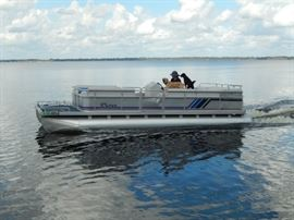24' Harris Sunliner FloteBoat Pontoon Boat - AVAILABLE FOR PRESALE