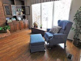 Matching recliner and ottoman