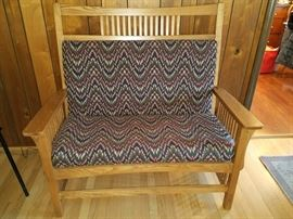Mission style settee
