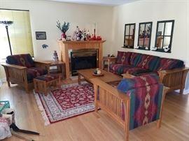 Prairie style living room furniture