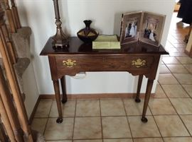 vintage solid wood foyer table