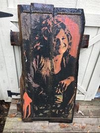 "Large vintage Janis Joplin ""fan art""."