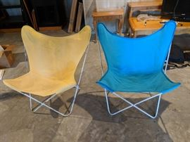 Mid century modern Knoll Butterfly chairs