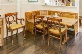 oak breakfast nook