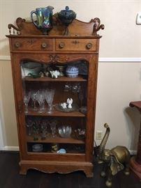 1960's oak cabinet