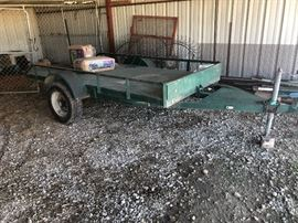 Single axle flat tilt bed trailer, 10 x 4 (Photo by BC)