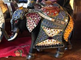 Decorative tribal Elephant-Trunk up for good luck!!!