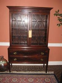 Early 20c Benson Brothers of Baltimore mahogany china cabinet