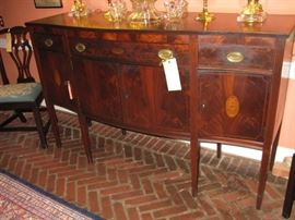 Early 20c Benson Brothers of Baltimore mahogany inlaid sideboard