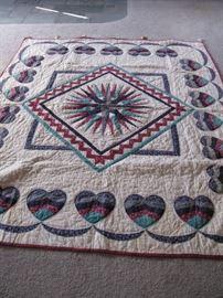 Handmade quilt w/ beautiful detail