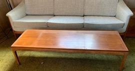 Lane teak coffee table