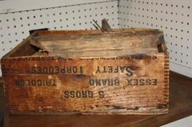 Antique Essex Safety Torpedoes Wooden Dovetailed Box