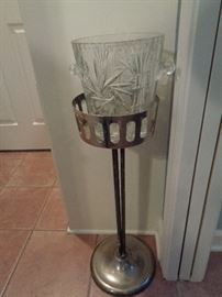 crystal ice bucket & stand