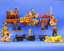 "Variety of  Tin ""Litho"" Toys - Featured in  2nd Ring"