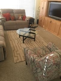 Contemporary newer furnishings in pristine condition.