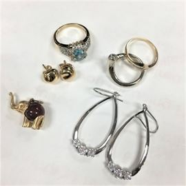 Tiffany gold earrings and other fine jewelry