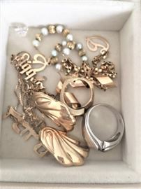 Much more jewelry to be sorted through.