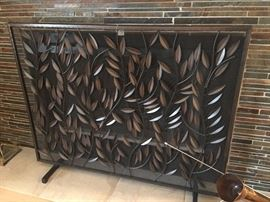 Crate and Barrel fireplace screen