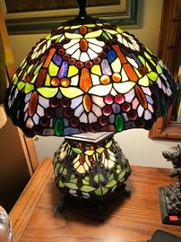 Tiffany Style Leaded Glass Lamps Double Lighting Table and Standing ~15 Plus