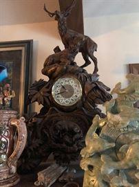 Black Forest Carved Clocks