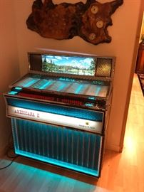 Wurlitzer Jukebox Americana II ~ Loaded with records and working!