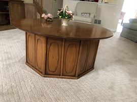 MCM pair of side tables square with 2 doors and matching coffee table
