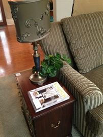 One of two coordinating lamps