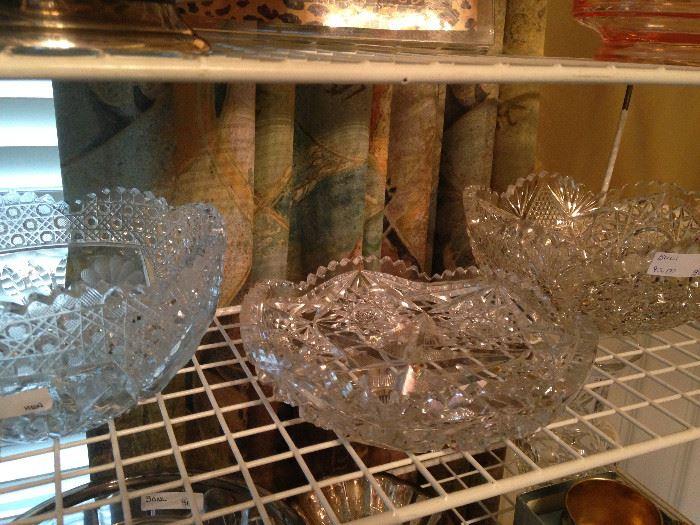 Pressed glass bowls