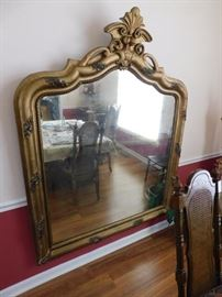 Large Antique Gilt Gesso Mirror