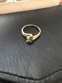 14k and emerald