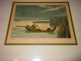 """Sledging"" 19th C. Engraving"
