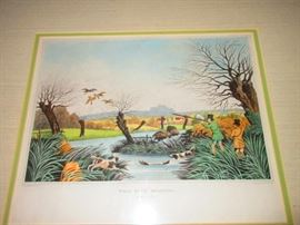 """Wild Duck Shooting"" 19th C. Engraving"