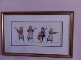 String Quartet, P Buckley Moss
