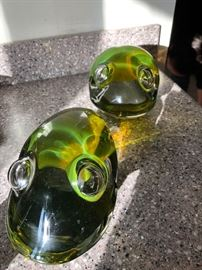 Candese Murano glass frogs