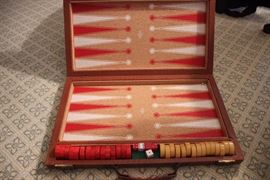 Bakelite backgammon set