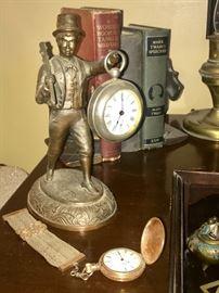 Antique pocket watch; Man/clock