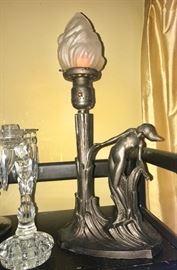 Art Deco Lady-tourch lamp