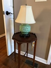 occasional table, lamp