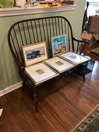 Windsor Back Double Chair