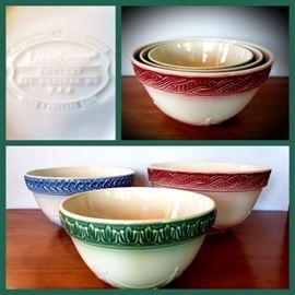 Longaberger mixing bowl set