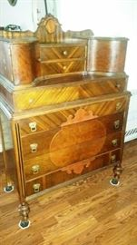 Antique Dresser with BOWED WOOD doors. Looks ALL ORIGINAL