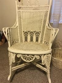 Sweet Vintage Wicker Rocker