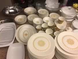 Sheffield Serenade, U.S.A. huge set of dishes. 26 dinner plates, cups/saucers, butter, salad, bowls, cr/sugar, misc serving .  Will split set up because there are so many pieces
