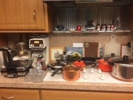 Many appliances and pots, pans everything  as new condition.