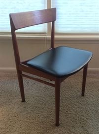 One of set of 4 Danish teak dining chairs