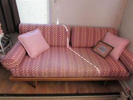 Oak Platform Mid Century Sofa
