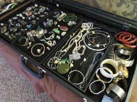 Bracelets, Earrings, Rings, Cinnabar Bracelets, Bone, Lots of Jewelry